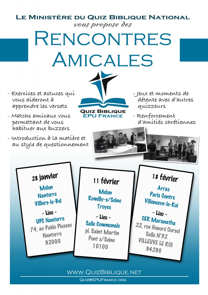 POSTER Rencontres amicales